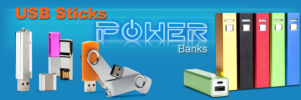 USB-STICKS + POWER-BANKS